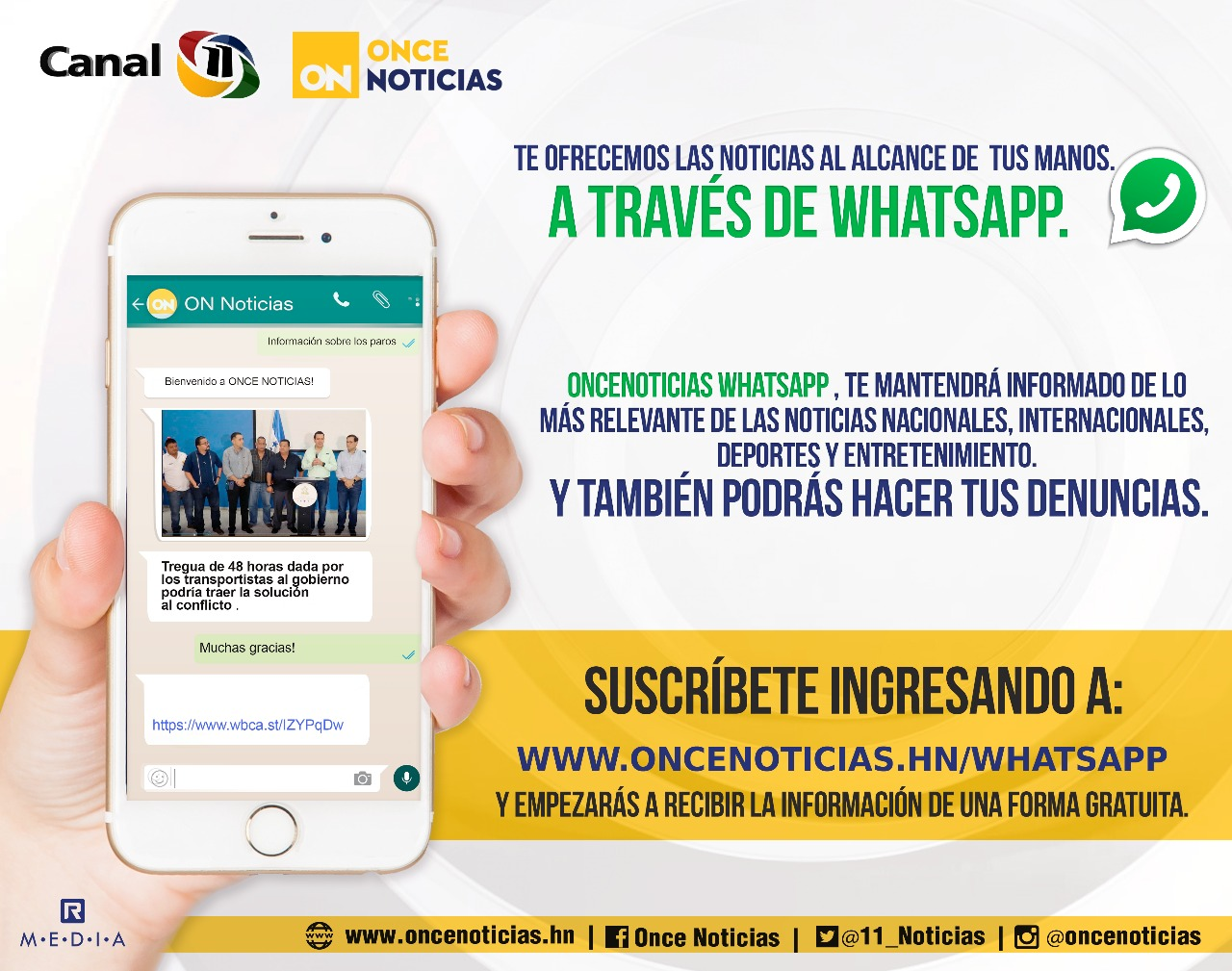 Whatsapp OnceNoticias